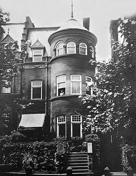 Ramsdell home convent ave 342 nyc B+W