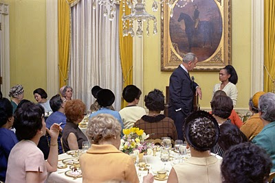 Eartha kitt, lbj at luncheon