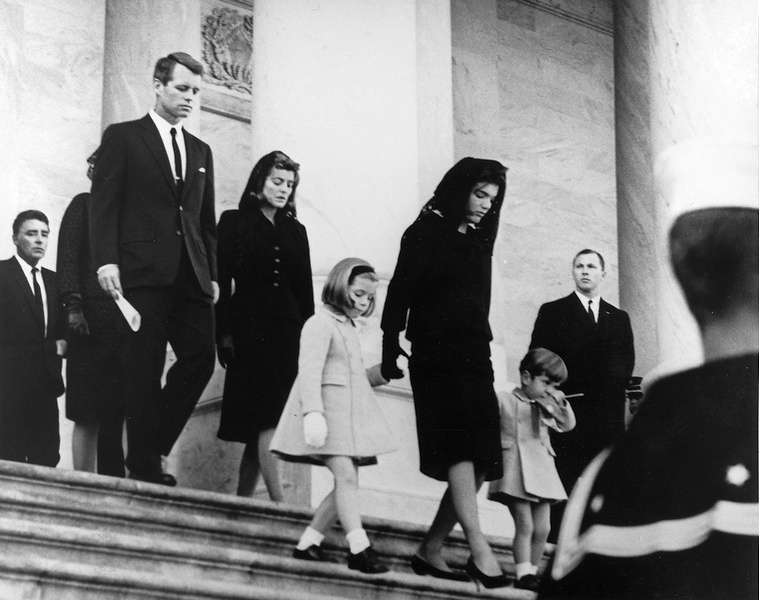 JFK's_family_leaves_Capitol_after_his_funeral,_1963